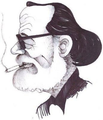 Caricatura de José Donoso, biografía, bibliografía y aspectos narrativos