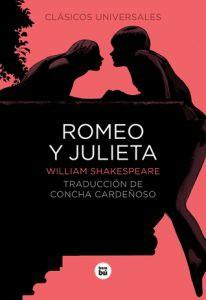 Portada de Romeo y Julieta, una obra literaria de William Shakespeare